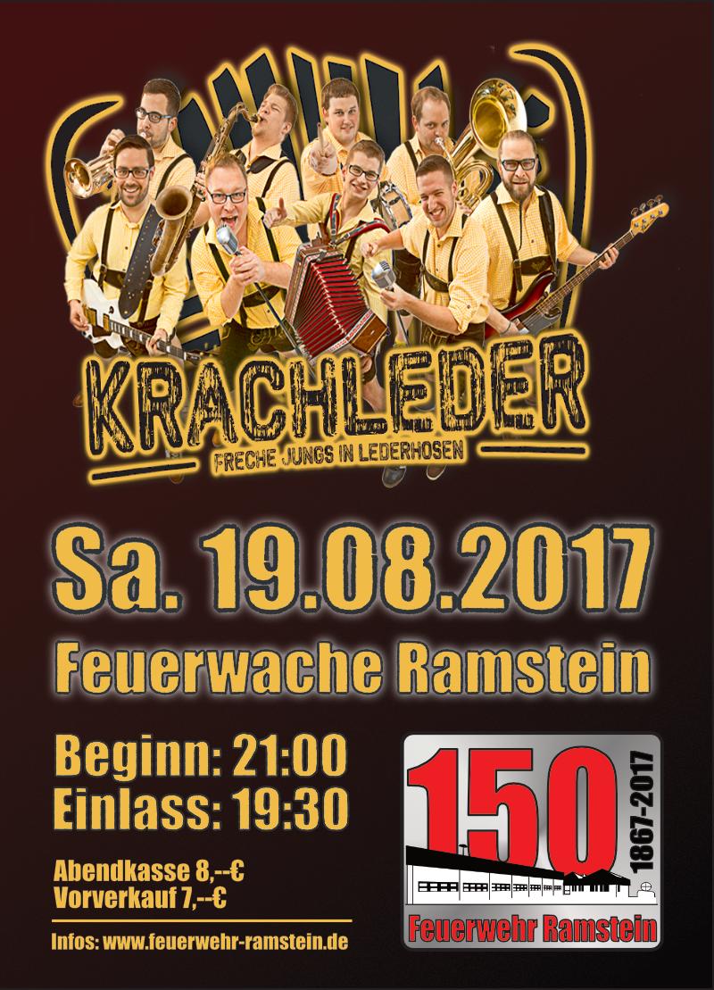 """Kartenvorverkauf für """"Krachleder"""" in der Feuerwache Ramstein hat begonnen"""