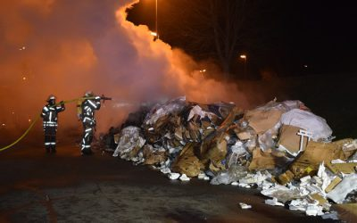 010 – 12.01.2018 – Brand eines Containers – Ramstein
