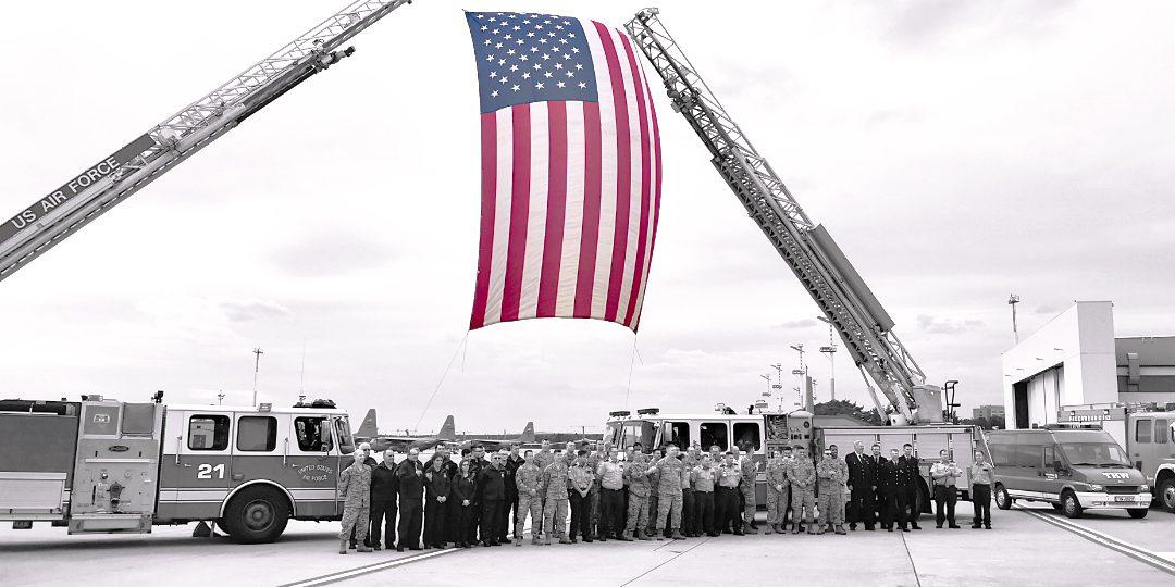 Gedenkfeier zum 11. September auf dem Flugplatz Ramstein