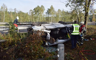 274 – 26.10.2019 – Vekehrsunfall Person Klemmt – A6