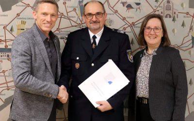 stellvertretenden Kreisfeuerwehrinspekteur Franz-Josef Preis auf eigenen Wunsch entpflichtet