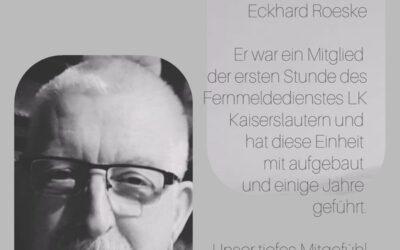 Der Fernmeldedienst des Landkreis Kaiserslautern trauert um seinen Kollegen Eckhard Roeske